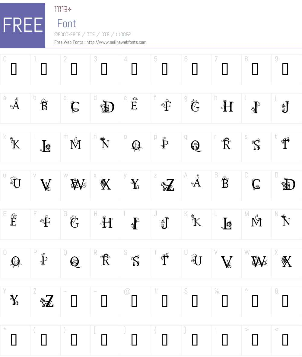 Kids Alphabet Font Screenshots