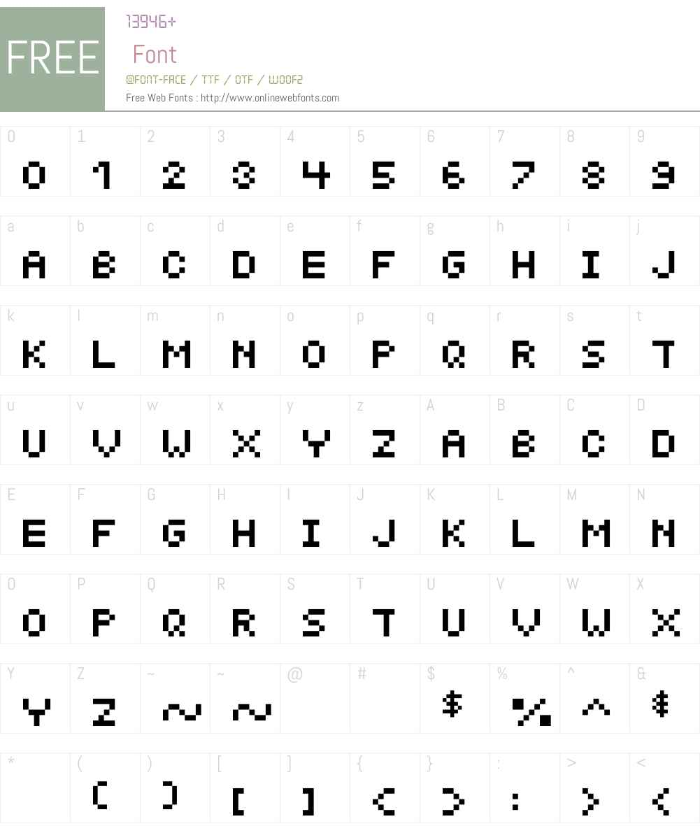 MicroTym Font Screenshots