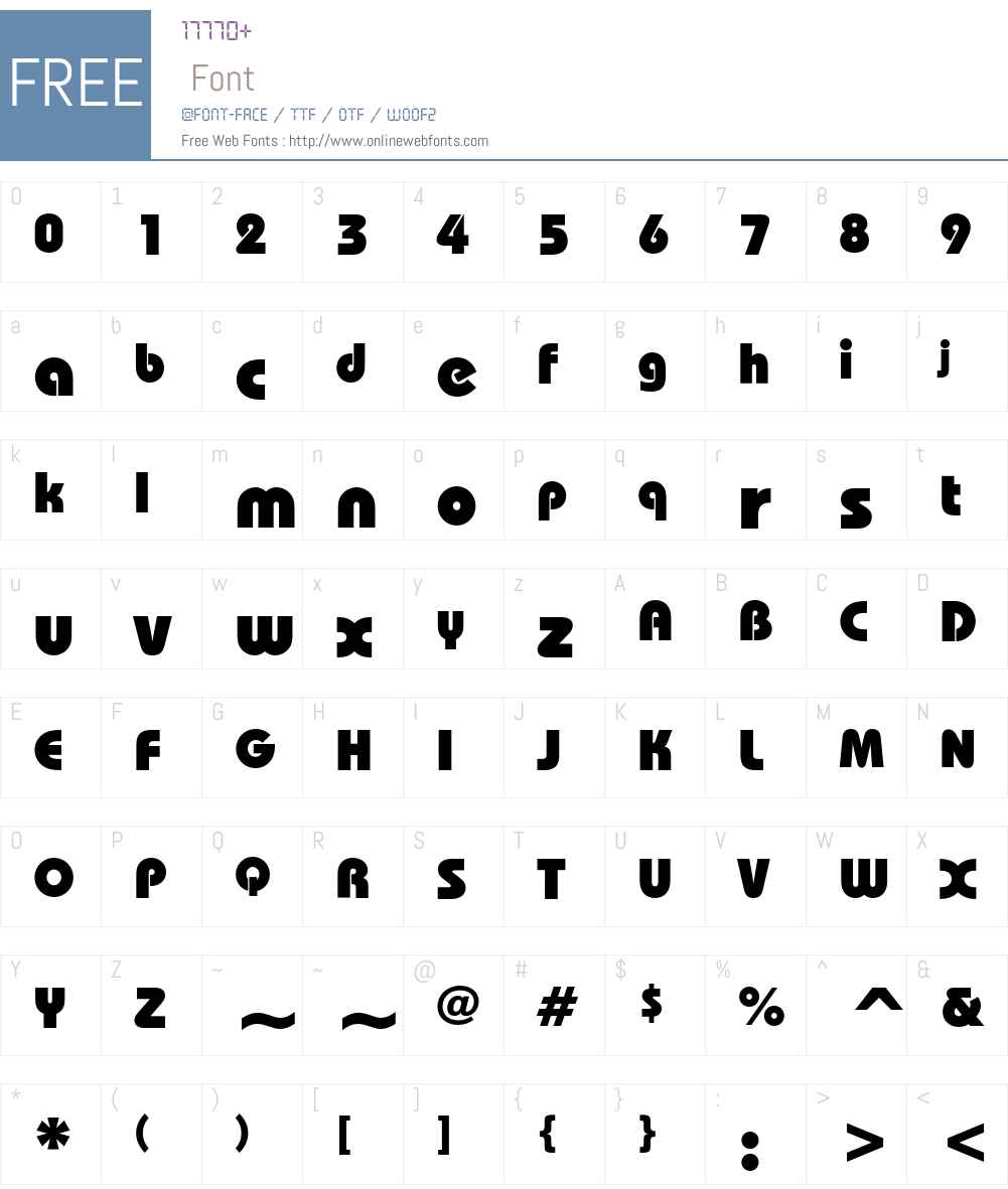 ITC Bauhaus Font Screenshots
