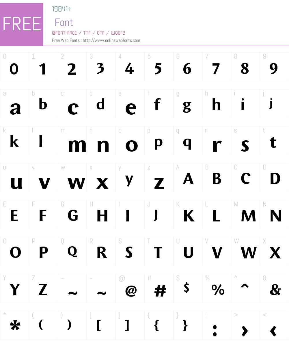 Wunderlich Font Screenshots