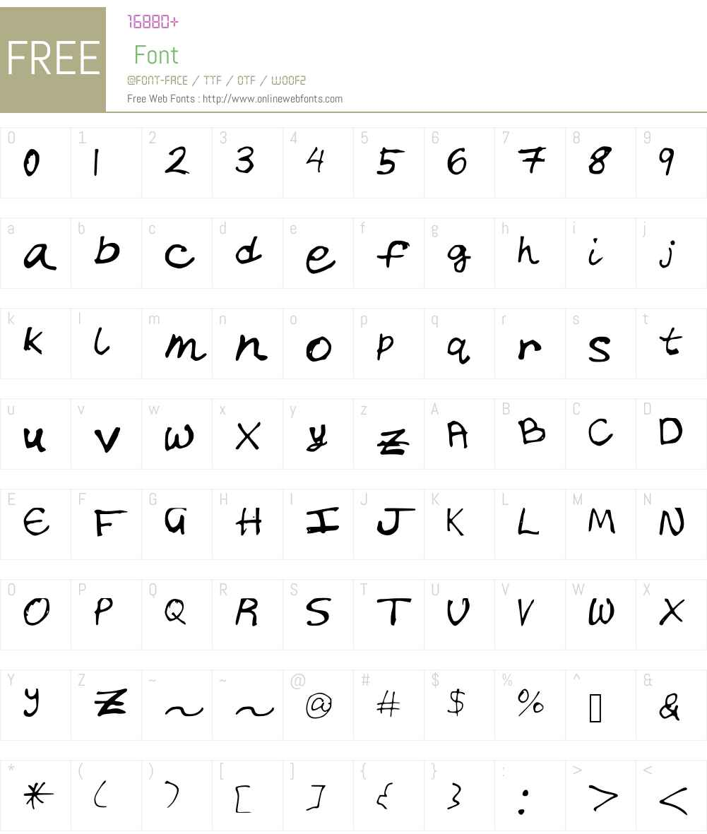 Chicken_Scratch Font Screenshots