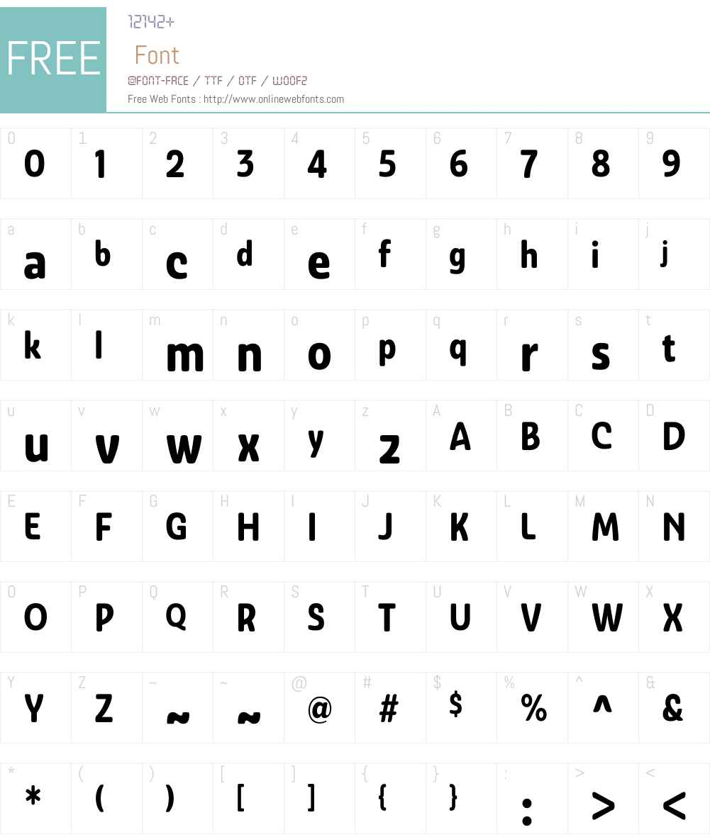 AshemoreSoftW01-CondBold Font Screenshots