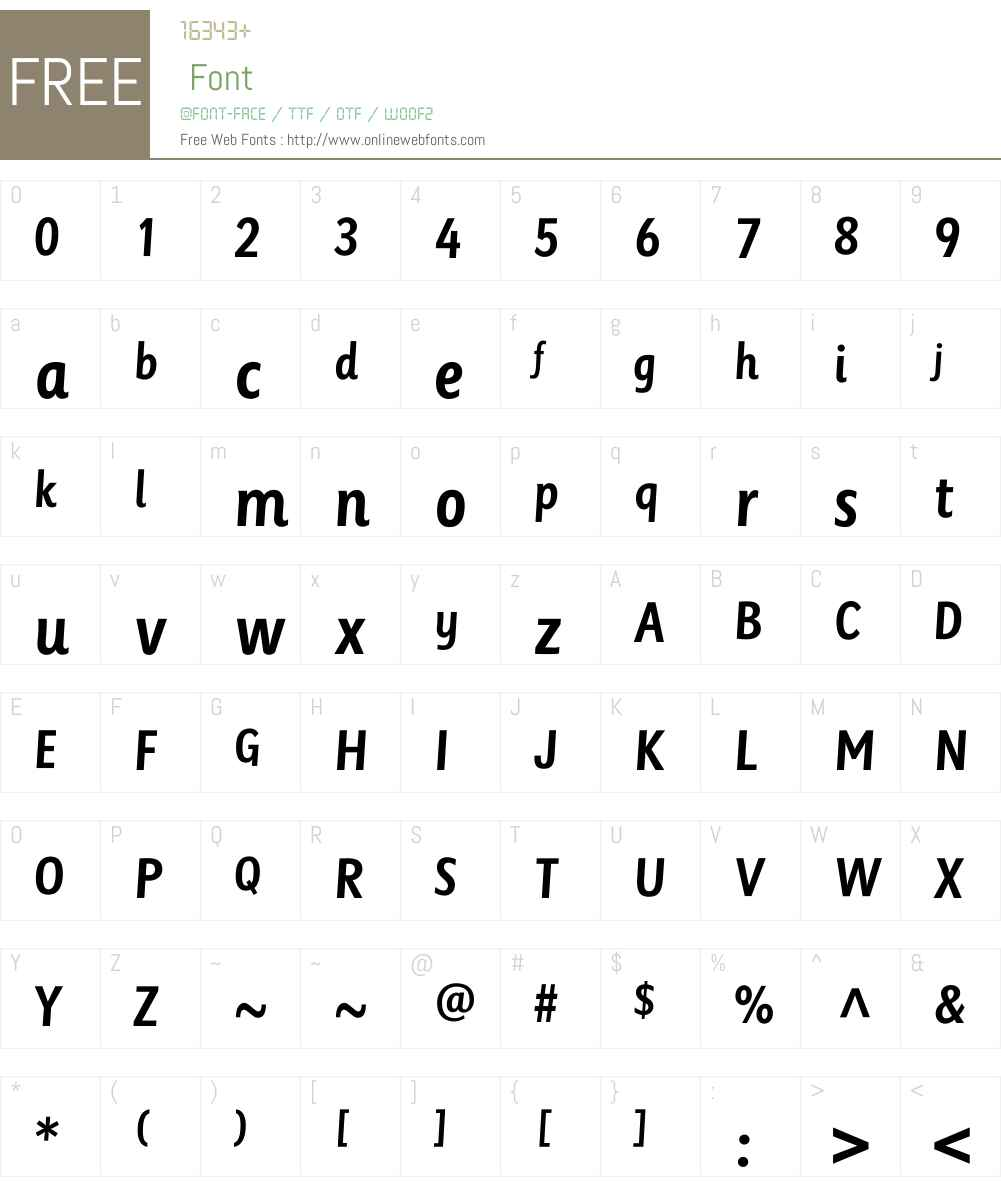 SassoonPrimaryCondensedW01-Md Font Screenshots