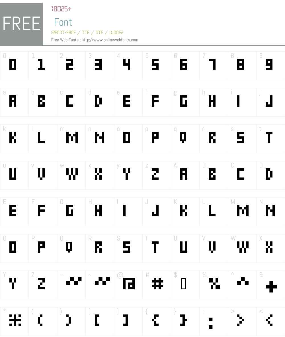 6px2bus Font Screenshots