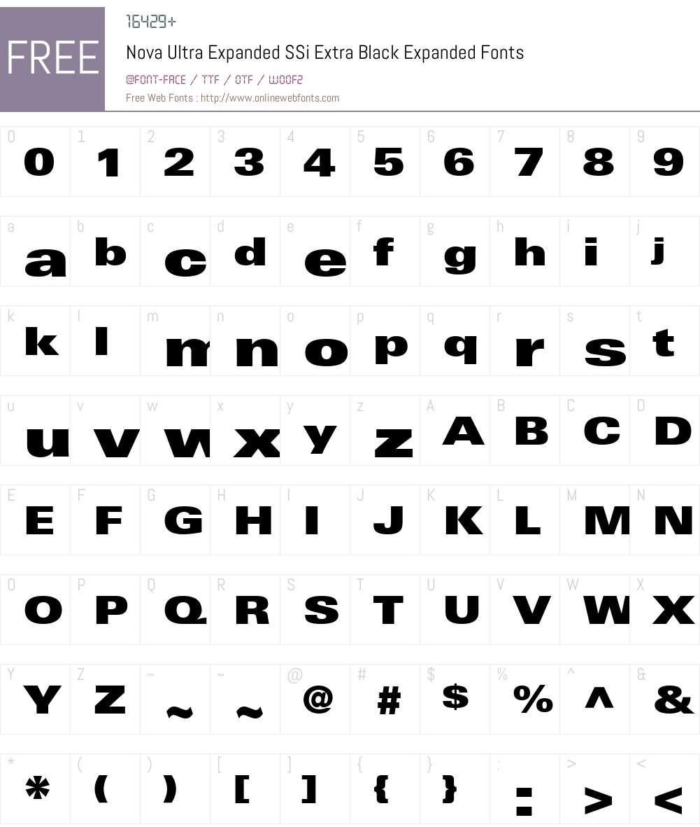 Nova Ultra Expanded SSi Font Screenshots