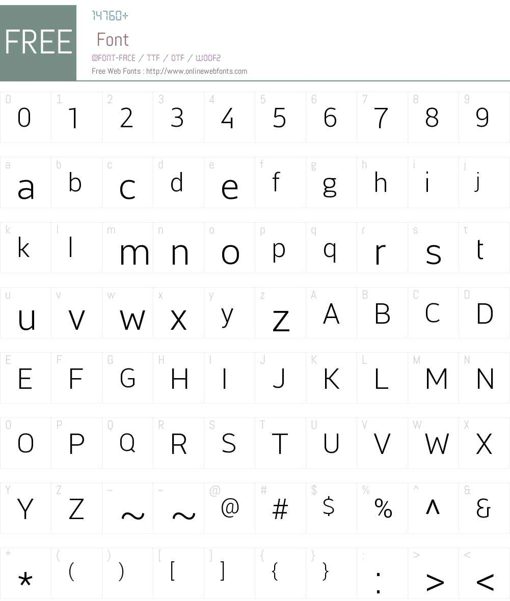 Centuma Font Screenshots