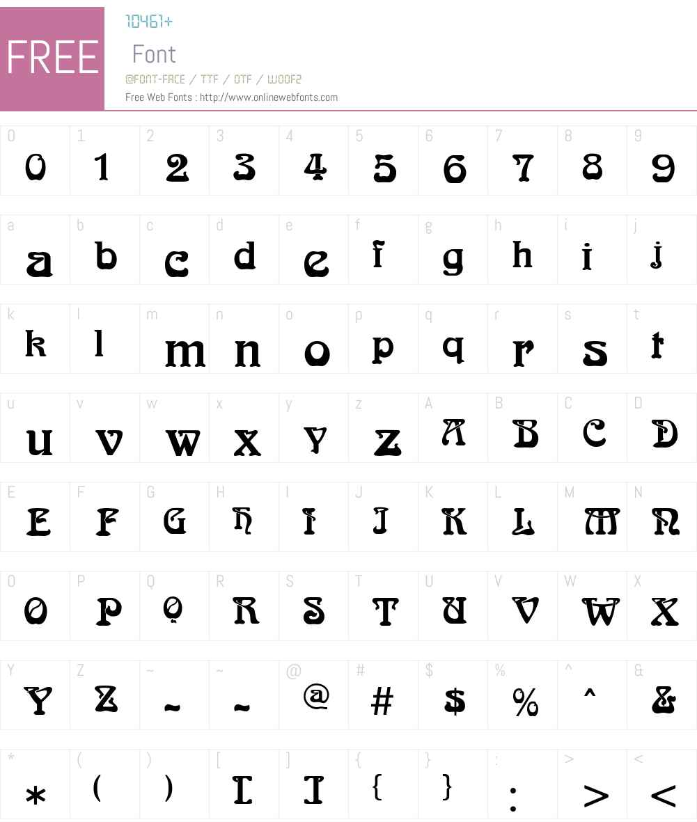 Bocklin Font Screenshots