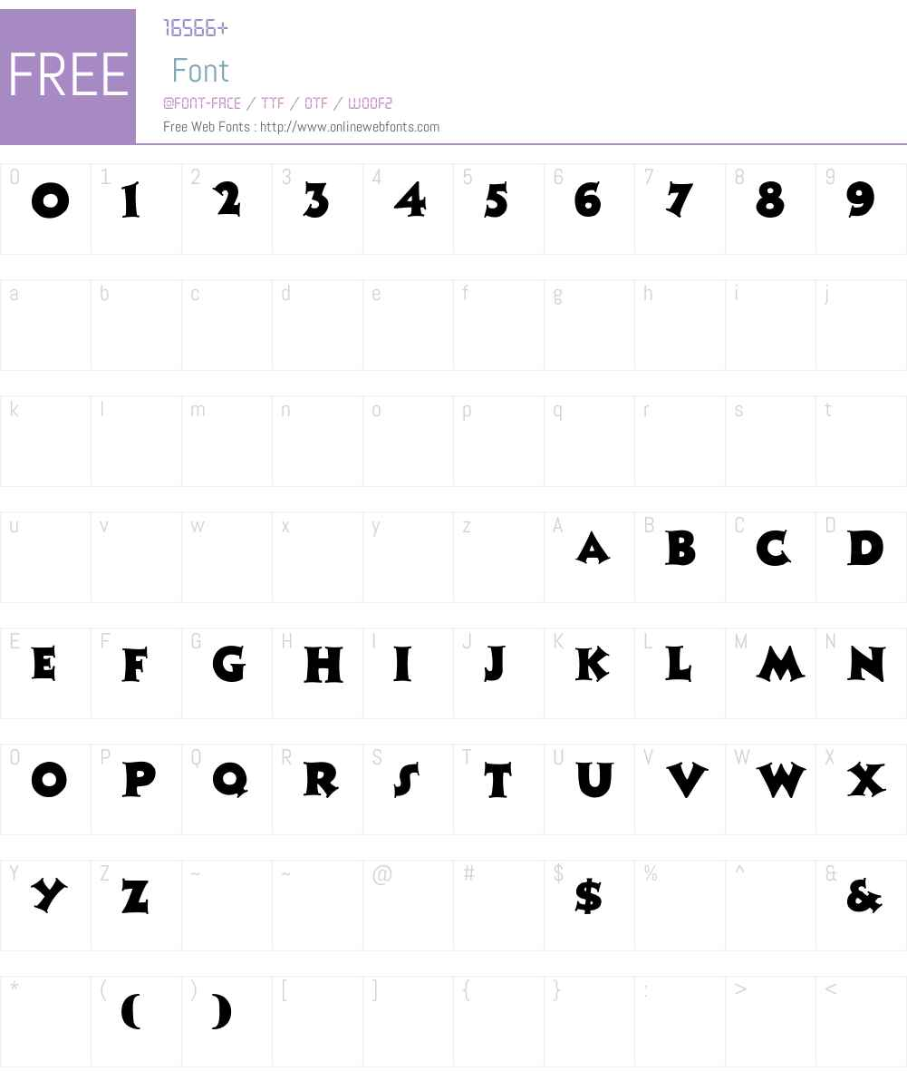 ZaleskiCaps Font Screenshots