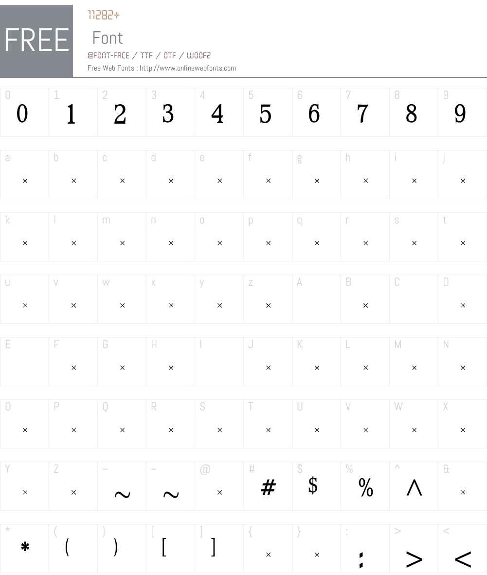 WaverlyMediumCondensedTab Font Screenshots