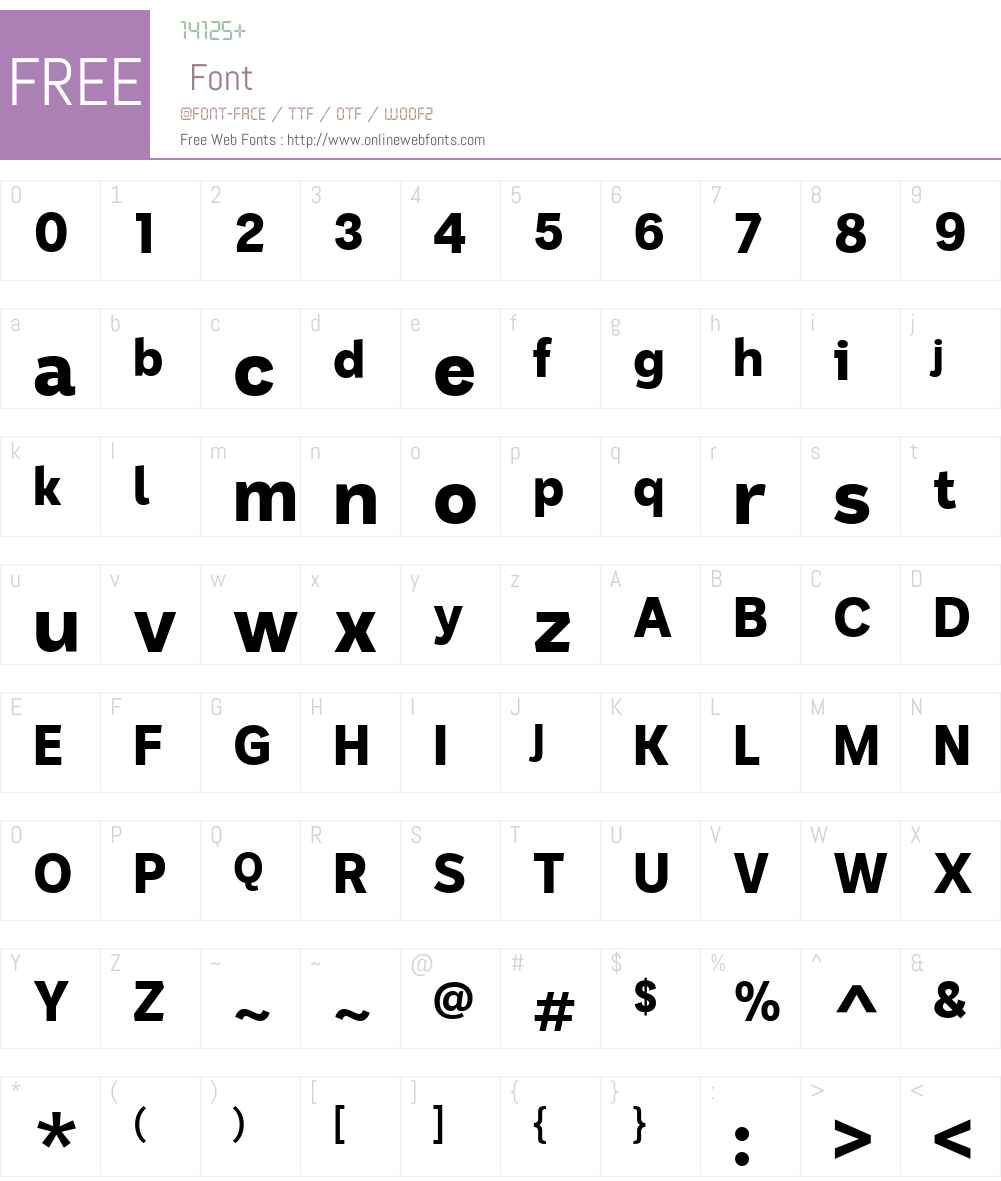 ABCSans Font Screenshots