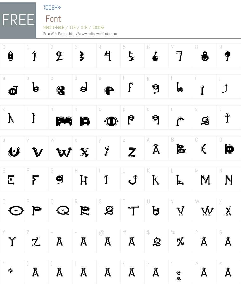 cocoon Font Screenshots