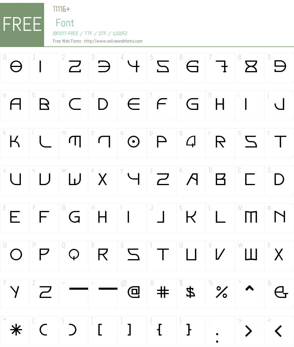 Elektora Font Screenshots