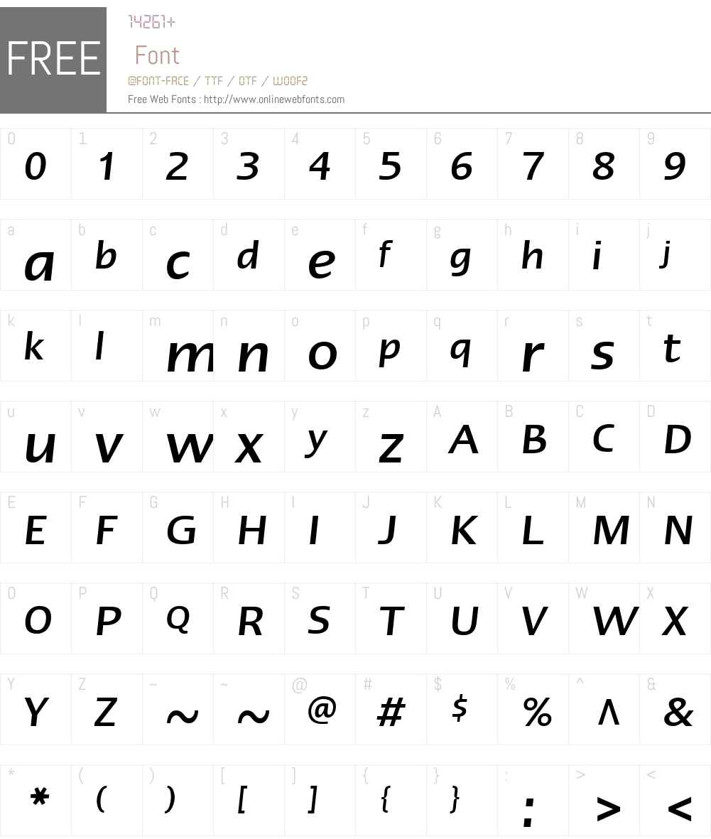 ErgoLTW01-MediumItalic Font Screenshots