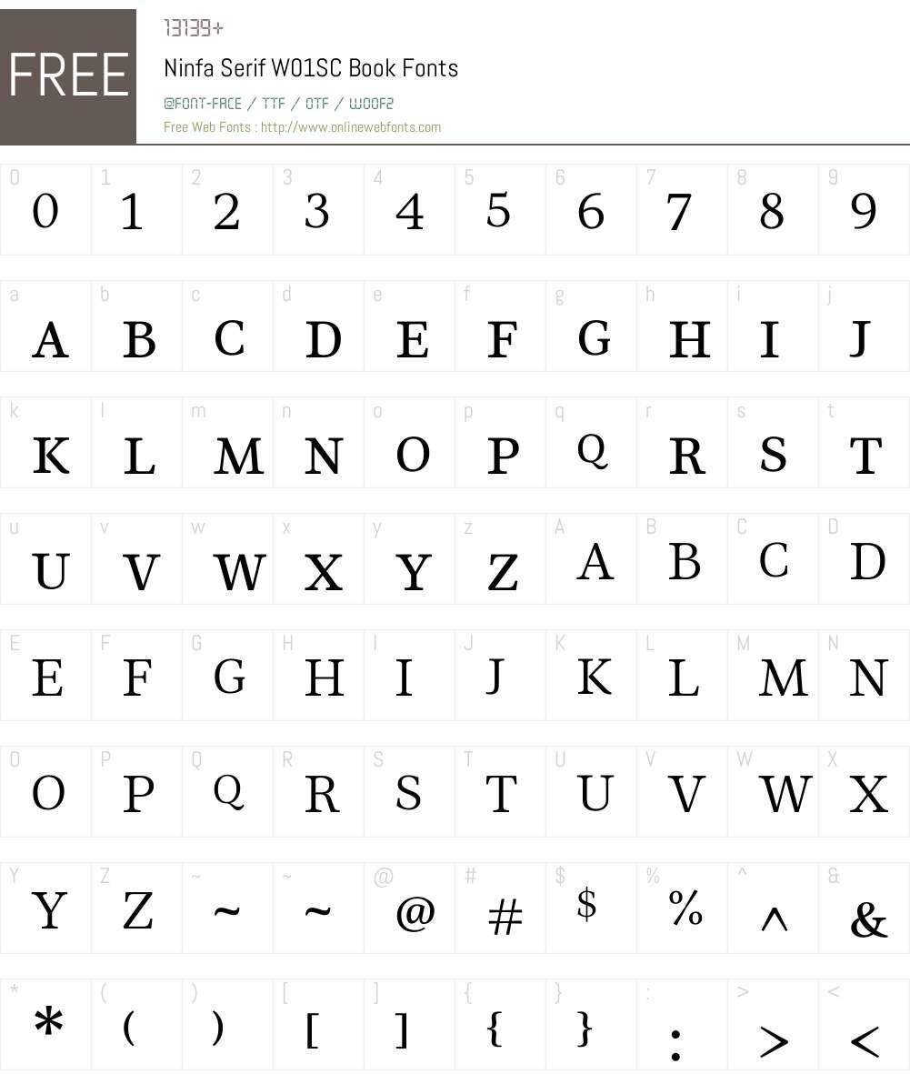 NinfaSerifW01SC-Book Font Screenshots