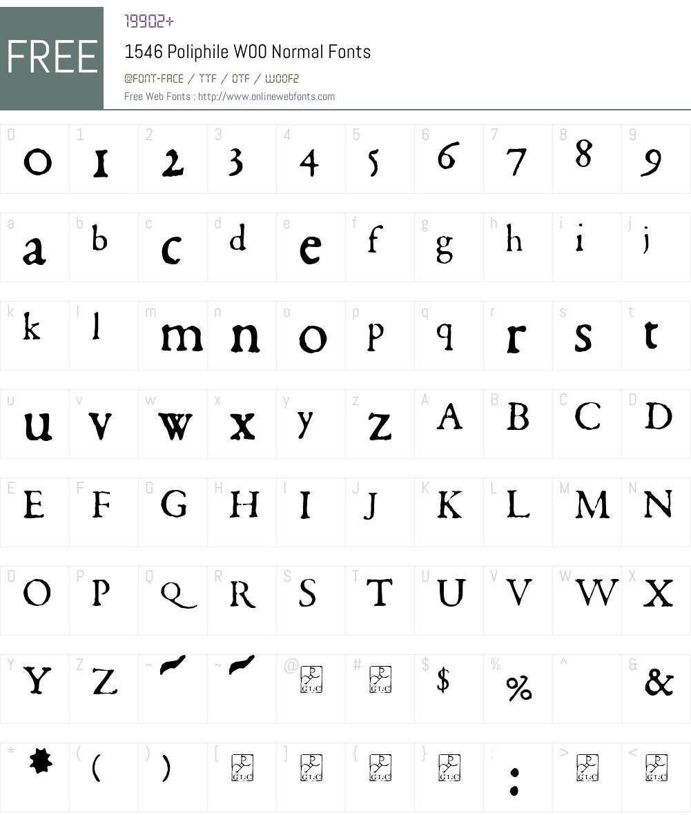 1546 Poliphile Font Screenshots