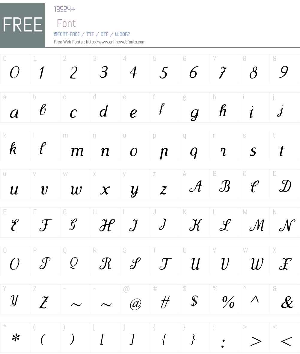 Wenceslas Font Screenshots
