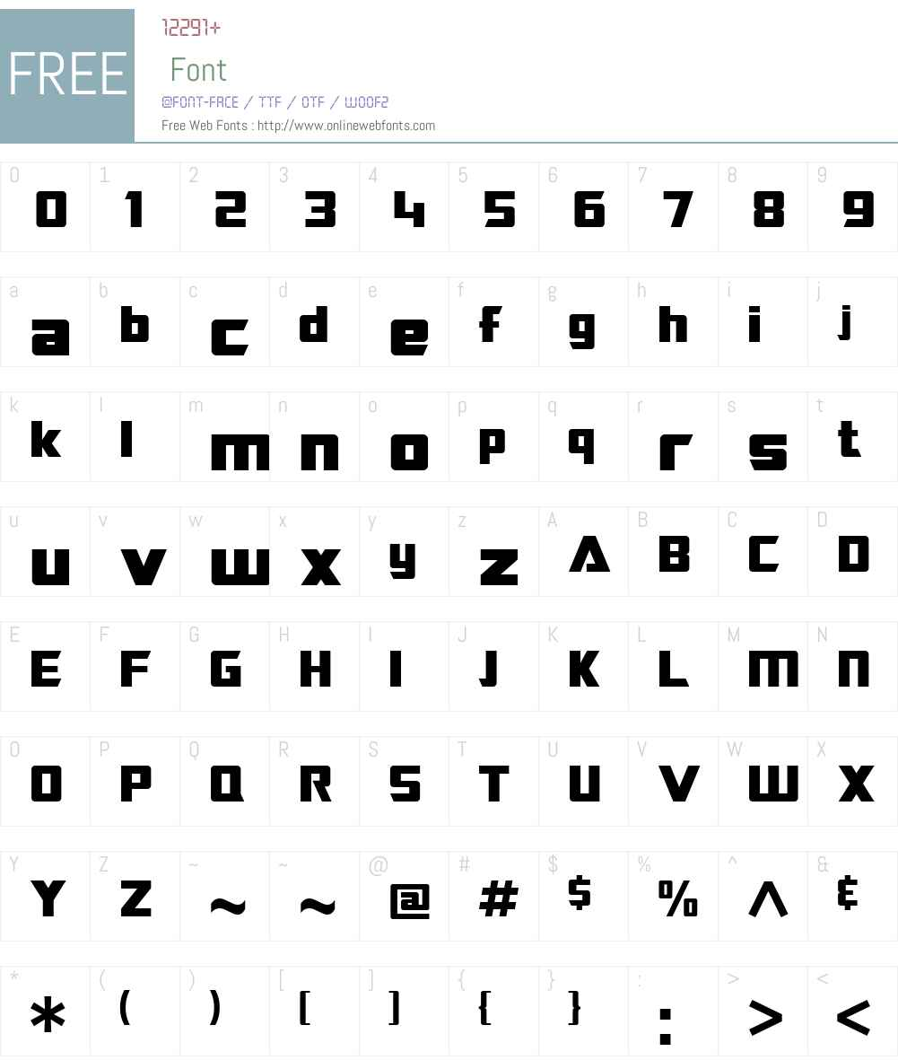 SF TransRobotics Font Screenshots