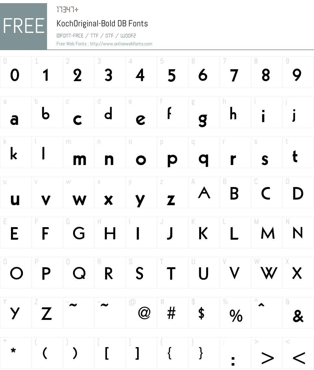 KochOriginal DB Font Screenshots