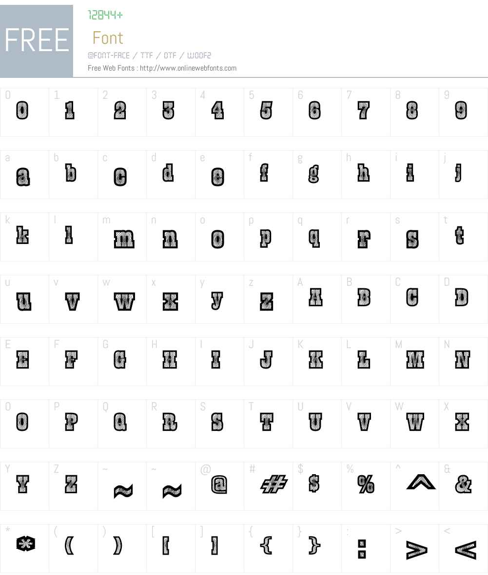 Burris Font Screenshots