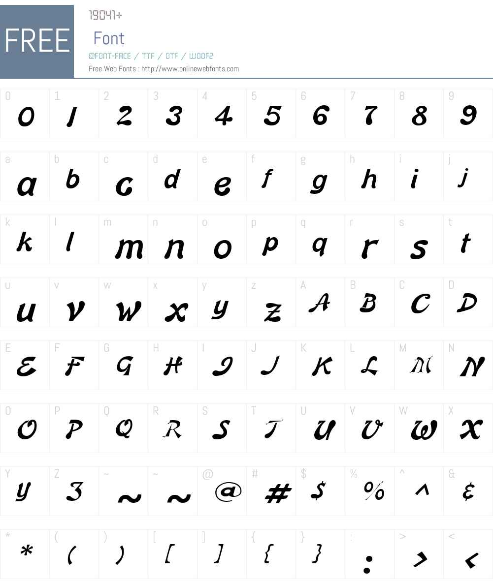 Banner Lite Font Screenshots