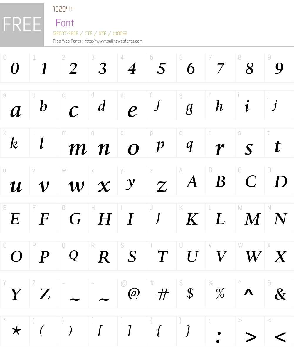 Haarlemmer MT Std Font Screenshots