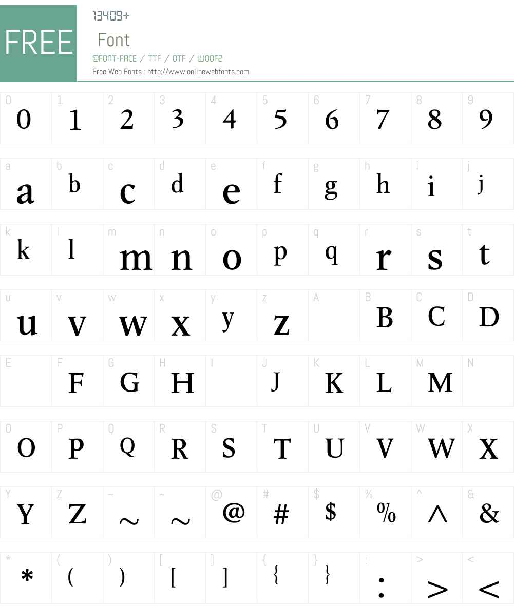 LeightonBold Font Screenshots