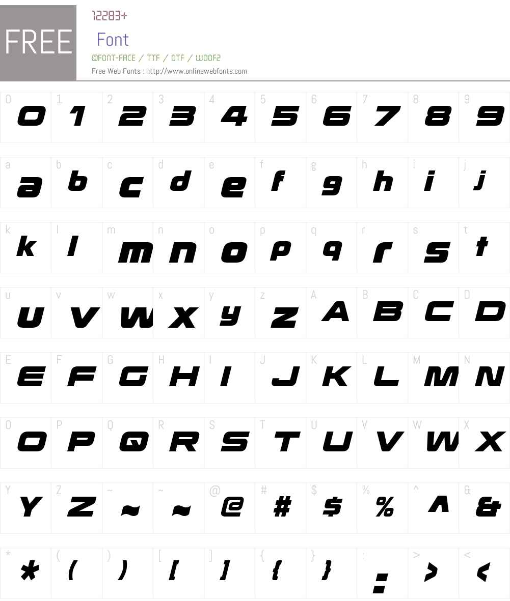 KoratakiW01-ExtraBoldIt Font Screenshots