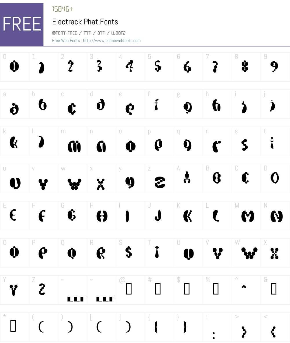 Electrack Font Screenshots