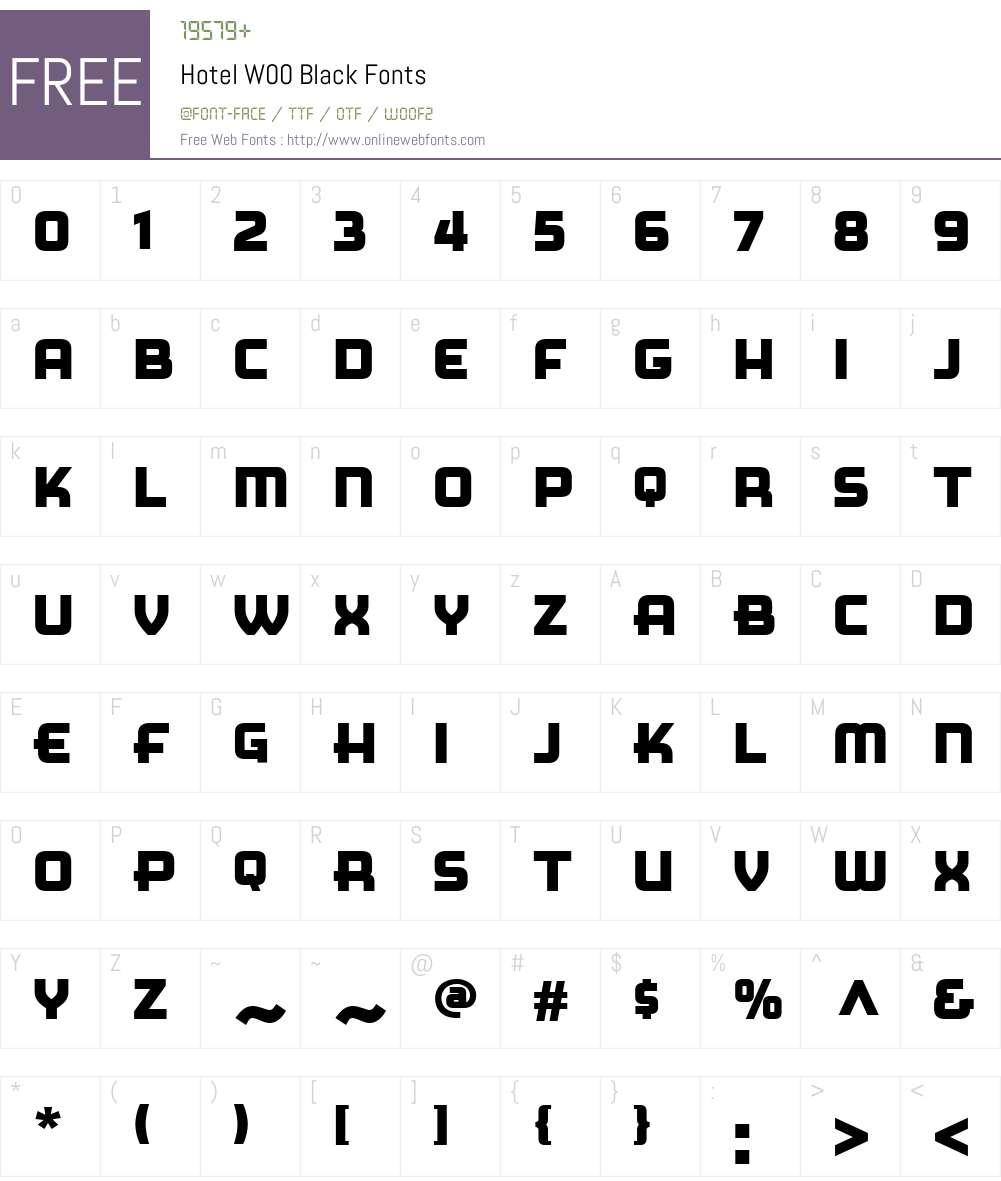 Hotel Font Screenshots