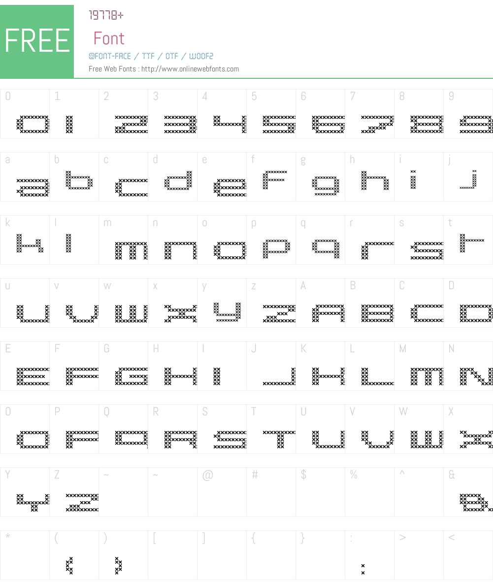 Pargrid LT Std Cross Font Screenshots
