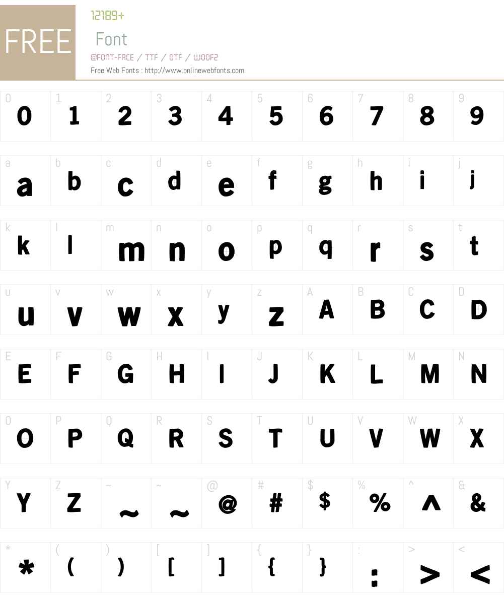 KleinsanBold Font Screenshots