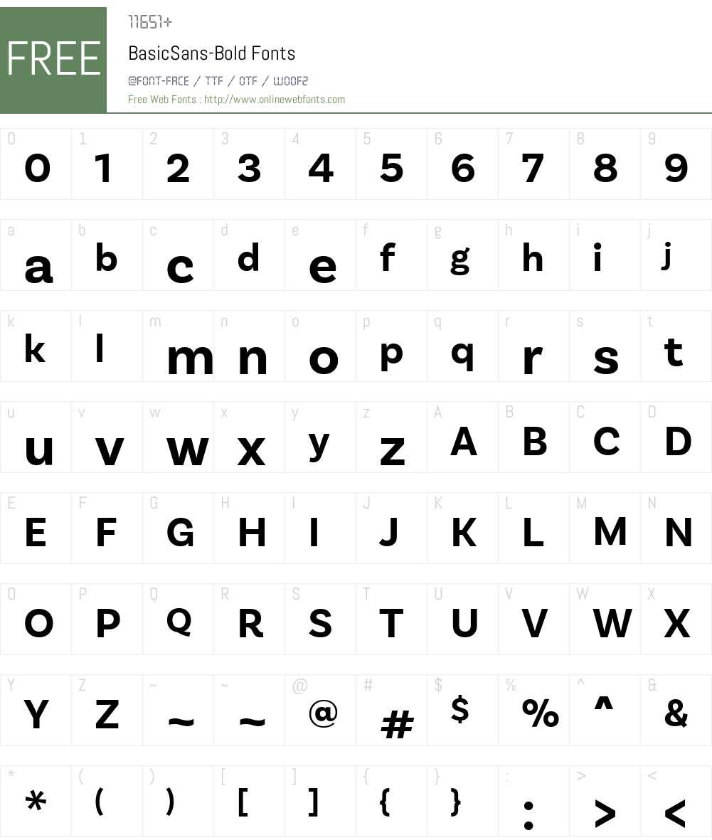 BasicSans-Bold Font Screenshots