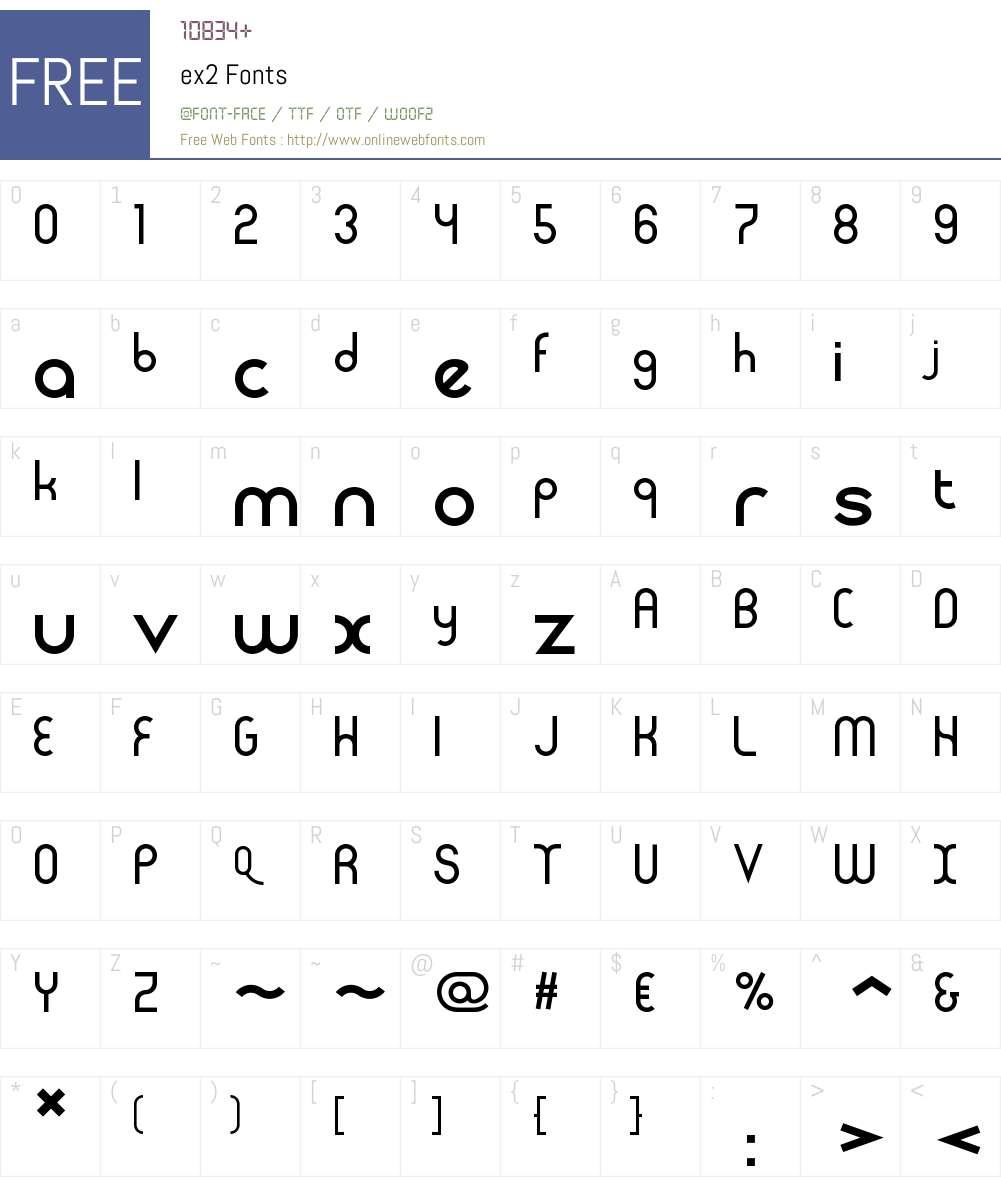 ex2 Font Screenshots
