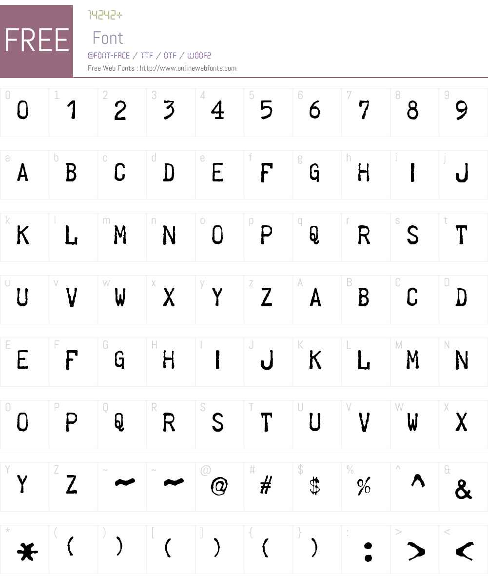Telegraphem Font Screenshots