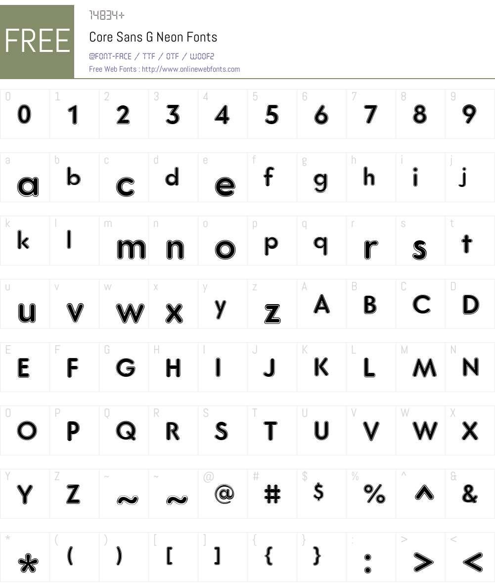 Core Sans G Font Screenshots