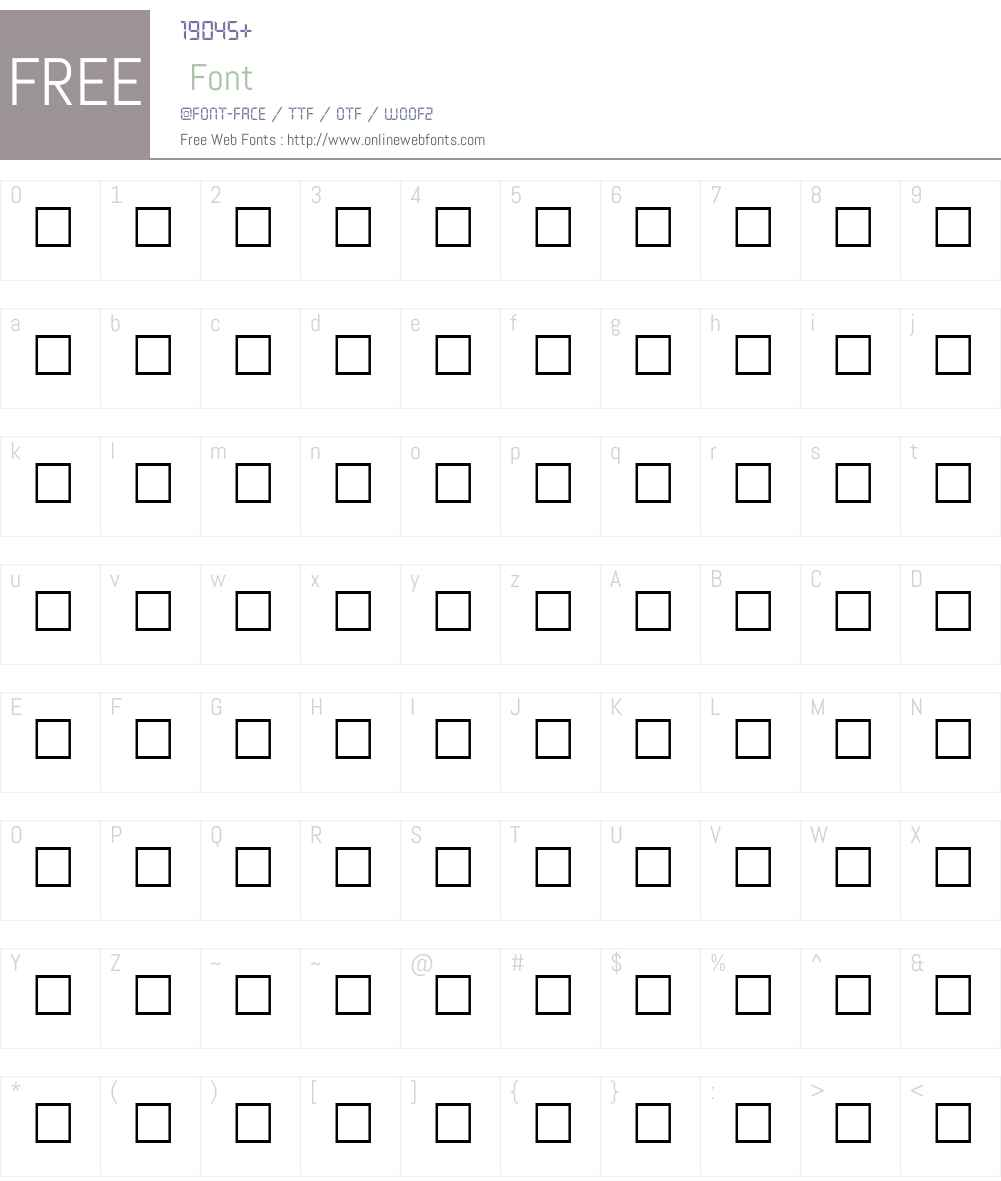 VAMP Font Screenshots