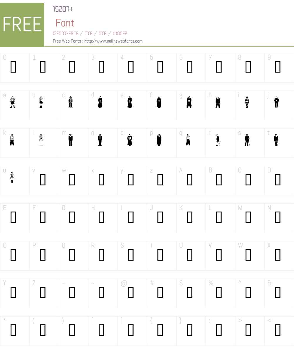 GE Stylized People Font Screenshots