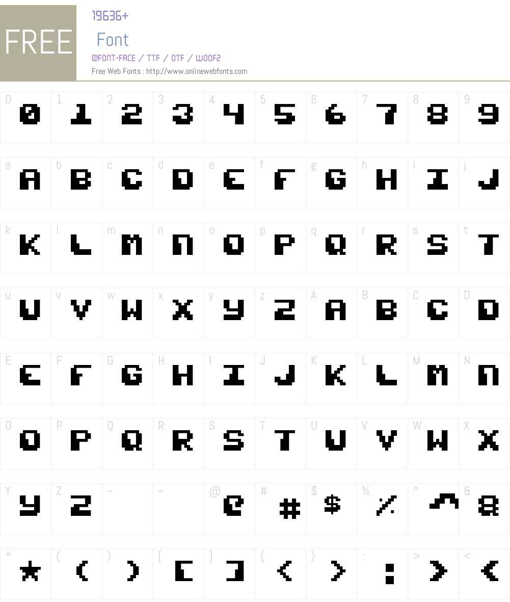 Razor 1911 Mini Font Screenshots