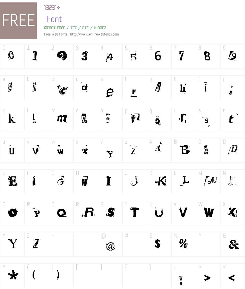 HotPlateLTW00-8 Font Screenshots