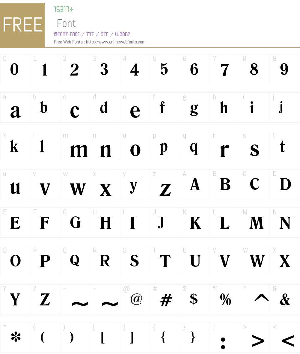 Romana Font Screenshots