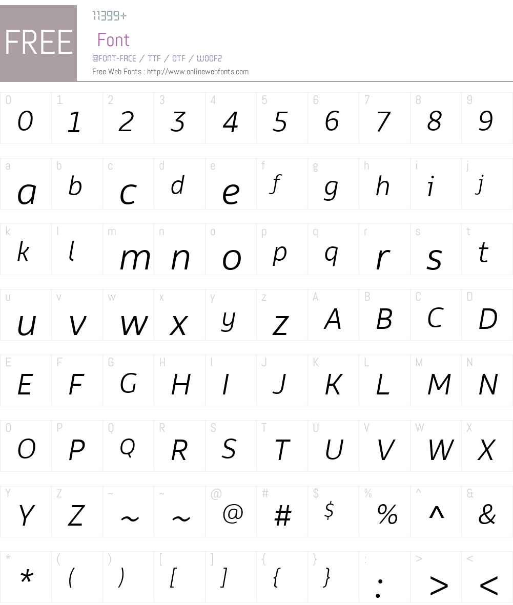 Rehn Font Screenshots