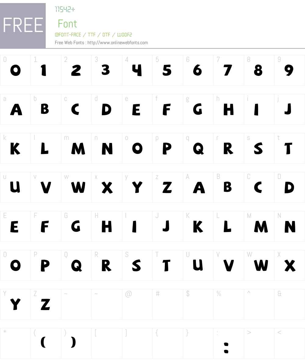 SAF Font Screenshots