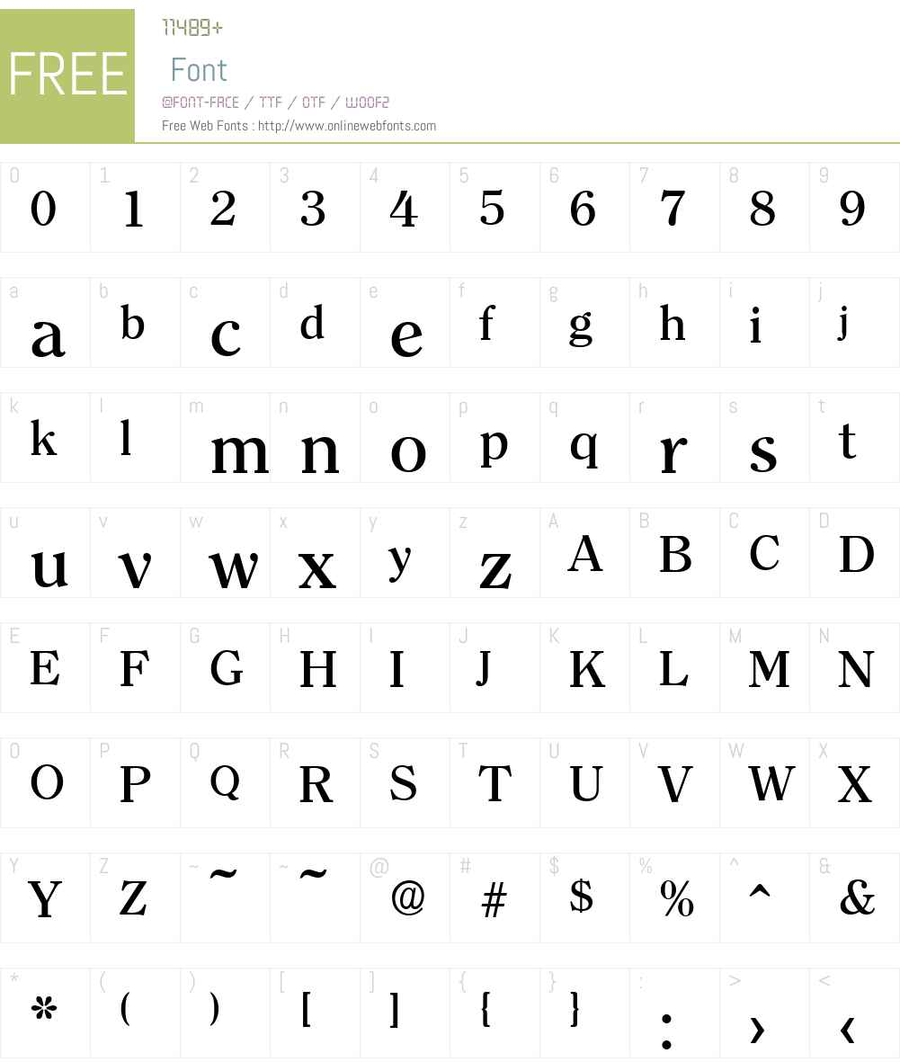 ClearfaceSerial-Medium Font Screenshots