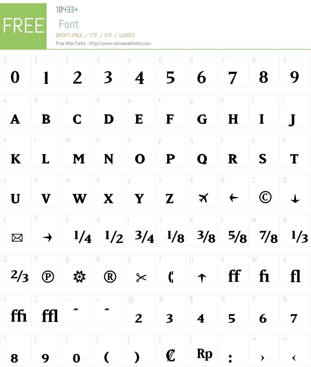 MatrixBoldFractions Font Screenshots