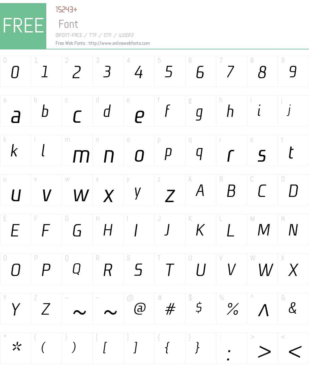 NiksW01-NormalItalic Font Screenshots