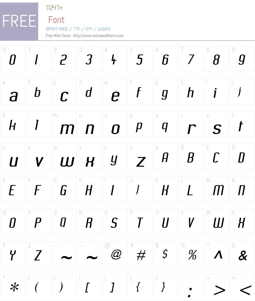 XenomorphSans Font Screenshots