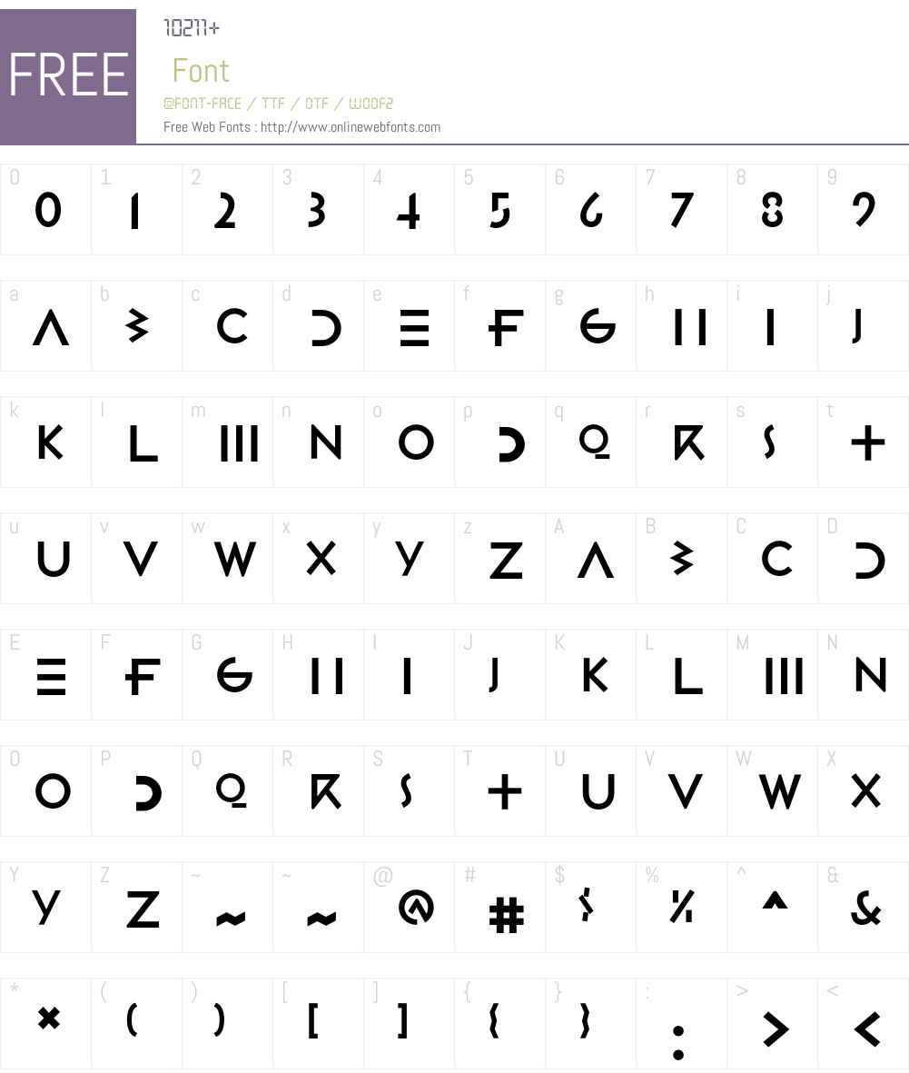Gestalt Font Screenshots