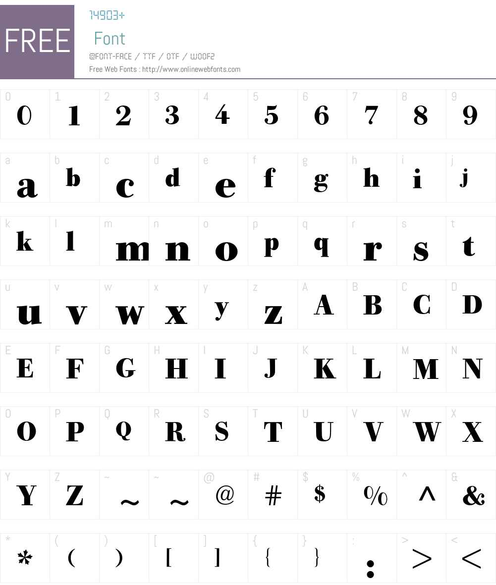 Bodoni Old Face BQ Font Screenshots