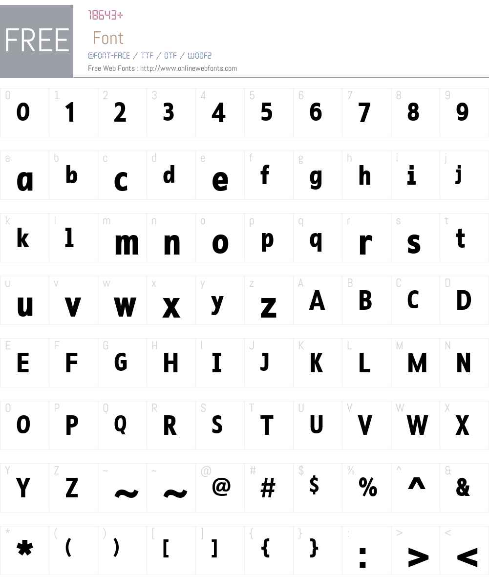 RescueNarrowW01-Bold Font Screenshots