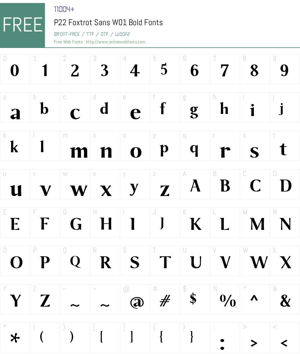 P22FoxtrotSansW01-Bold Font Screenshots